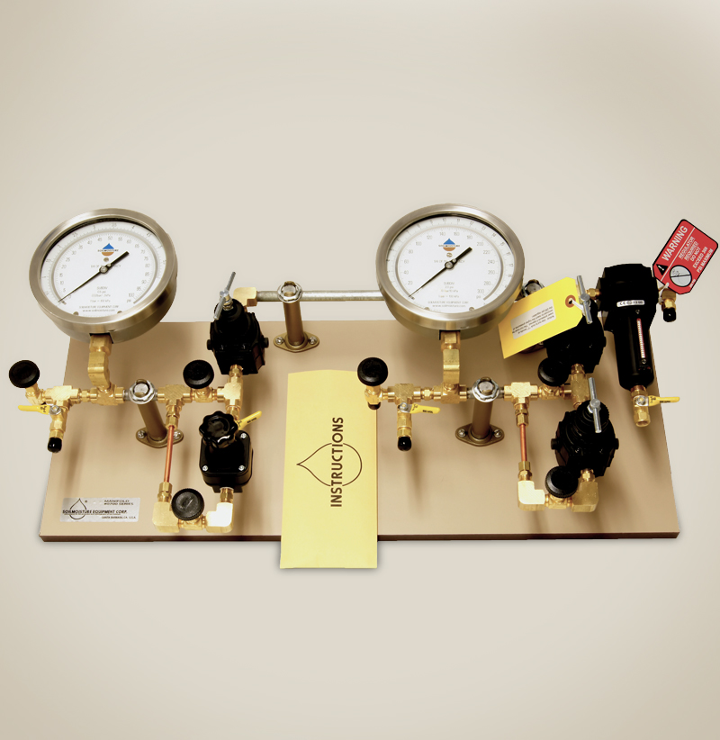 PRESSURE REGULATING SYSTEM (MANIFOLD) TO RUN 1500F2 & 1600F1 EXTRACTORS TOGETHER OR 1 BY 1