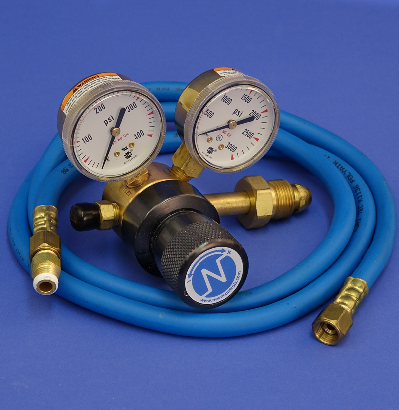 TANK REGULATOR FOR 750 MANIFOLDS,  PLUS HOSE