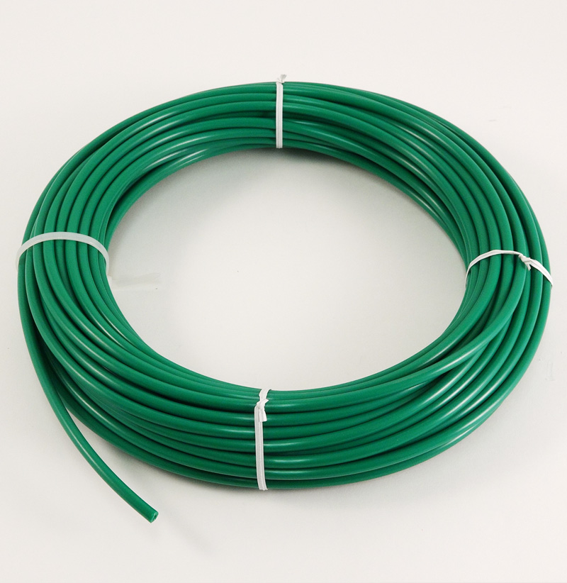 "GREEN POLYETHYLENE TUBING, 1/4"" O.D., 100 FT. ROLL"