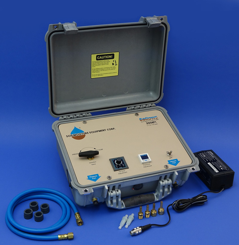 AUTOMATED ELECTRICAL PRESSURE/VACUUM PUMP, BATTERY OPERATED