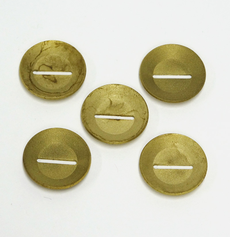 "G4 BRASS SUPPORT WASHER, 1/8"" WIDE X 1/2"" SLOT, 5 PACK"