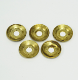 "G4 BRASS SUPPORT WASHER, G4, 1/4""  DIAM. HOLE,  5PACK"