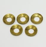 "G4 BRASS SUPPORT WASHER, G4, 3/8""  DIAM. HOLE,  5 PACK"