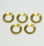 "G4 BRASS SUPPORT WASHER, G4, 1/2""  DIAM. HOLE,  5 PACK"