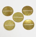 "G2 SERIES BRASS WASHER, 1/16""  SLOT,  5 PACK"