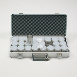 ALUMINUM CASE WITH 24 SAMPLE RINGS 53 MM
